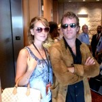 Erin with Thomas Jane from Hung & Punisher. Erin looks very rock star there don't you think?