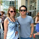 Erin with Steven Yeun from AMC's The Walking Dead
