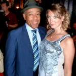Erin with AMC's Breaking Bad Gus Fring, Giancarlo Esposito! Giancarlo can be seen this fall in NBC's Revolution.