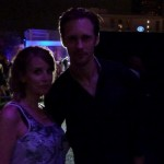 Erin with True Blood's Alexander Skarsgard.