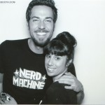 Megan with Zachary Levi at Nerd HQ! Cute couple!