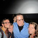 W.N.A. reader Kimmy (with brother and sister) and Tom Arnold at the Hit & Run screening.