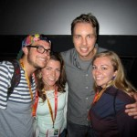 Kimmy also got to meet Dax Shepard at the Hit & Run screening.