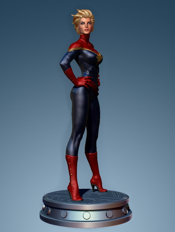 Bowen Designs Carol Danvers Captain Marvel Statue 01-XL