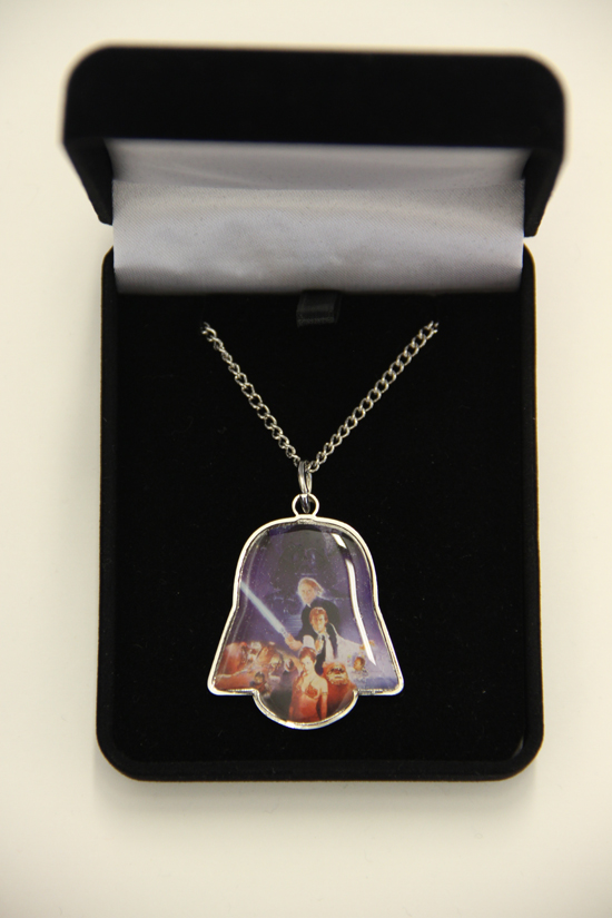 This Return of the Jedi necklace honors the 30th Anniversary of the epic film. Her Universe has only made 1,250 necklaces to celebrate the anniversary. This extremely limited edition piece will come with an autographed certificate by Eckstein and will only be sold at select Her Universe events. Only 500 necklaces will be sold at San Diego Comic-Con on a first come, first serve basis!
