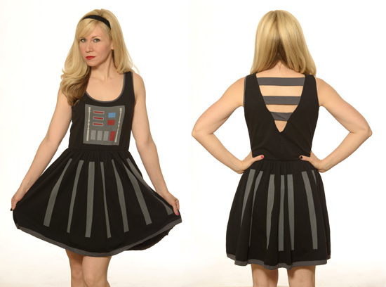 """Darth Vader is definitely a style icon and especially at Comic-Con! His classic all black look is very sleek, dramatic and stunning. Inspired by Darth Vader, we've put our own Her Universe twist on the LBD (little black dress) and designed an A-line dress that will cause others to say that you look, """"Impressive. Most Impressive."""""""