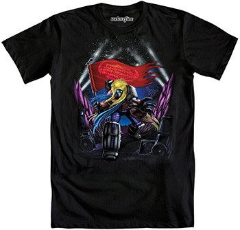 "Transformers ""Knights of Unicron Tour"" SDCC Exclusive T-Shirt:  They're more than meets the eye and they're ready to ROCK!  We're stoked about this ultra-cool Transformers design, a convention exclusive! (Booth #1235)"
