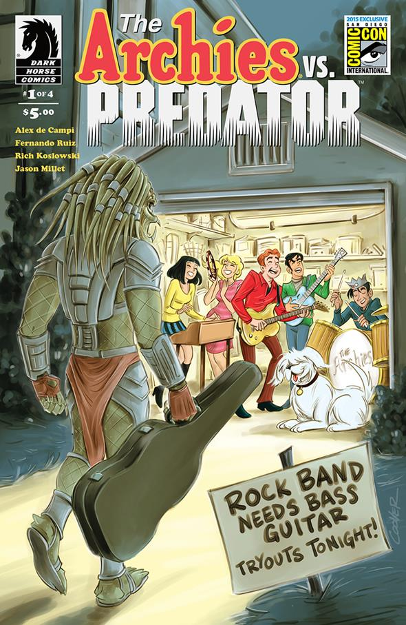 Archie vs. Predator #1 San Diego Comic-Con International Exclusive Variant Cover by Colleen Coover $5.00 Limited Edition of 1,000 5 per person per day