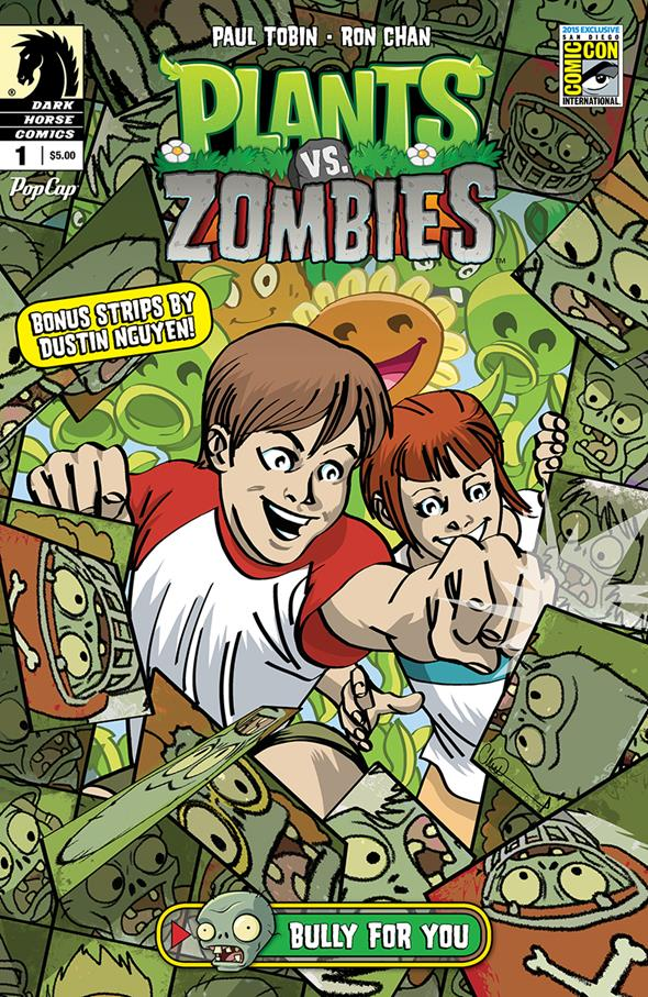 Plants vs. Zombies: Bully for You #1 San Diego Comic-Con International Exclusive Variant Cover by Charlie Adlard $5.00 Limited Edition of 1,000 5 per person per day