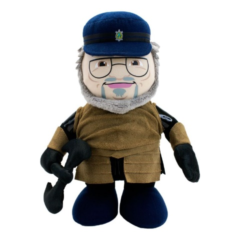 George R.R. Martin – Deluxe Talking Plush Signature Edition 2015 Convention Exclusive George R.R. Martin may not be attending San Diego Comic-Con this year, but with help from Factory Entertainment, you can experience the next best thing! Adorned in armor and wielding a battle-axe, George has never been more prepared to kill off your favorite character! Our Convention Exclusive Deluxe Talking Plush Signature Edition features 10 audio quotes recorded exclusively for it by Mr. Martin himself and comes with a numbered limited edition collector card hand-signed by George! Limited to 500 piec