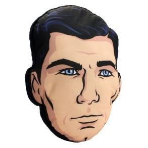 Sterling Archer Head Pillow from the animated TV show, Archer Can't wait until 2016 to get your next Archer fix? No problem—just bring home our Convention Exclusive Sterling Archer Head Pillow and the world's snarkiest spy can keep you company through the summer rerun season.  This large, soft pillow makes the perfect accessory to any couch, bed or interrogation cell. Limited to 500 pieces.
