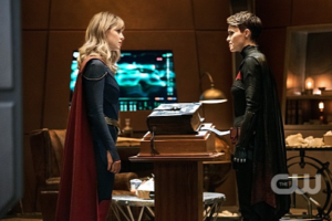 "The Flash -- ""Crisis on Infinite Earths: Part Three"" -- Image Number: FLA609d_0382b.jpg -- Pictured (L-R): Melissa Benoist as Kara/Supergirl and Ruby Rose as Kate Kane/Batwoman -- Photo: Dean Buscher/The CW -- © 2019 The CW Network, LLC. All Rights Reserved."